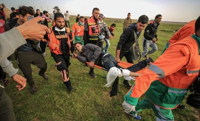 İşgalciler, Gazze sınırında 7 Filistinliyi yaraladı