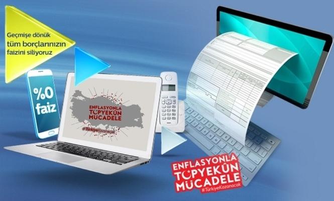 Türk Telekom`dan `Faizleri Sıfırlıyoruz` kampanyası