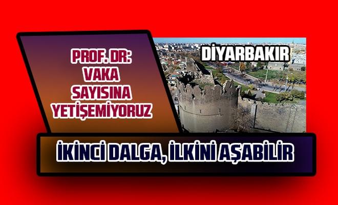 """Prof. Dr: """"Vaka sayılarına yetişemez olduk Diyarbakır'da ikinci dalga ilkini aşabilir"""""""