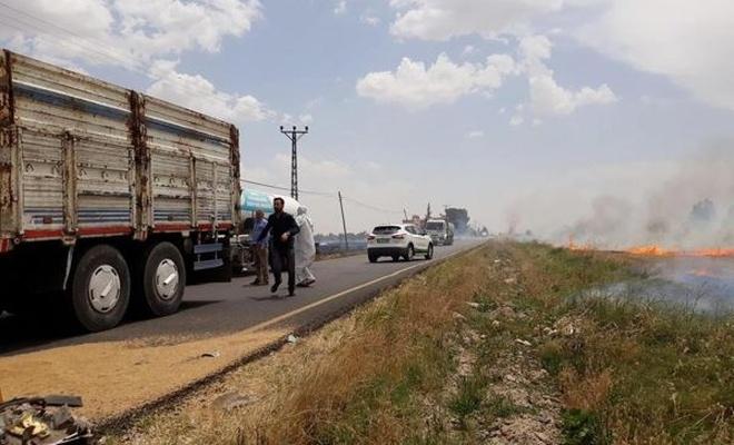 Anız yangını kazaya sebep oldu bir`i bebek 5 kişi yaralandı