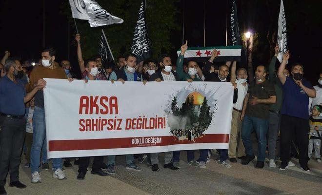 Siyonist işgal rejiminin saldırıları Gaziantep'te tel'in edildi