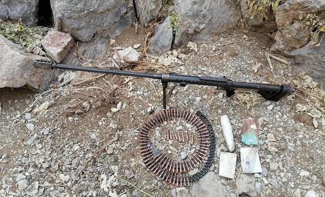 Van'da PKK'ye ait keskin nişancı tüfeği ve mühimmatı ele geçirildi