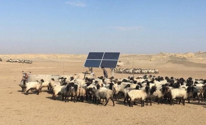 Karakum çölüne Güneş paneli kuruldu