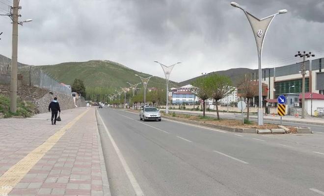 Tam kapanmanın ilk gününde Bitlis sessizliğe büründü