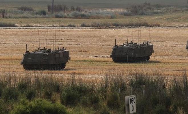 Siyonist teröristler Gazze sınırına yığınak yapıyor