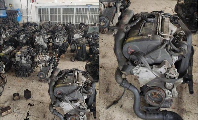 Malatya'da gümrük kaçağı 40 adet otomobil motoru ele geçirildi