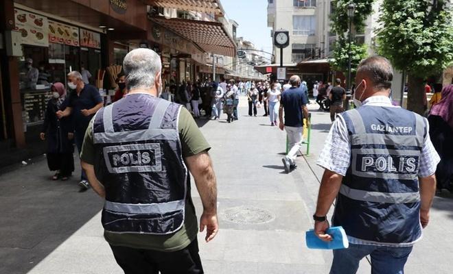 """Gaziantep'te 1884 kişiye """"sosyal mesafe ve maske"""" cezası verildi"""