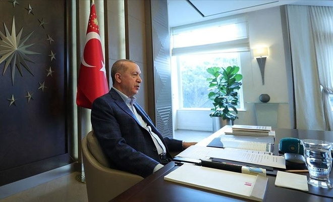 """Cumhurbaşkanı Erdoğan: """"Türkiye küresel salgın sürecini başarıyla yönetmiştir"""""""
