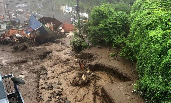 Çin'de yoğun yağışlar heyelana neden oldu