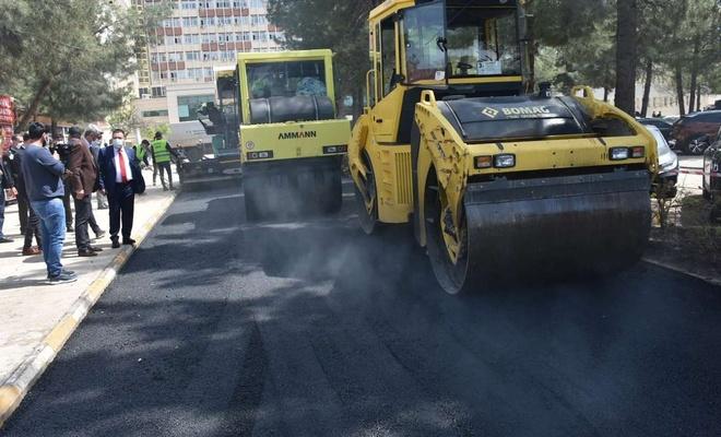 Dicle Üniversitesi Hastanelerinin bulunduğu alan asfaltlandı
