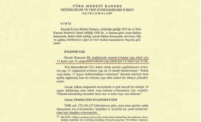 CHP'nin, Mustafa Kemal hayattayken kızlarda evlenme yaşını 15'e indirdiği ortaya çıktı