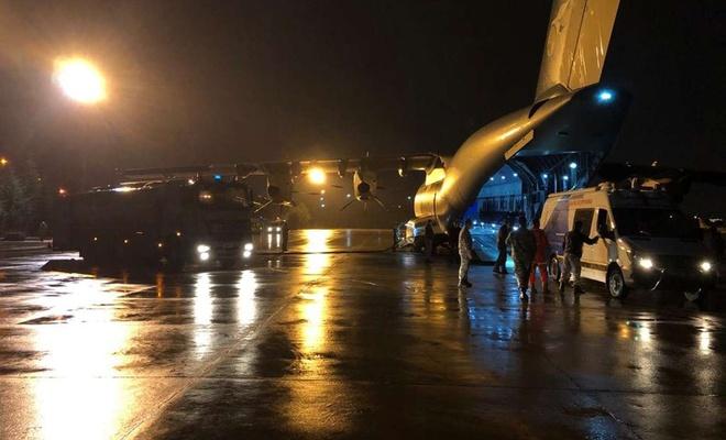 TSK'ye ait 6'ncı uçak JAK ekiplerini deprem bölgesine ulaştırmak için havalandı