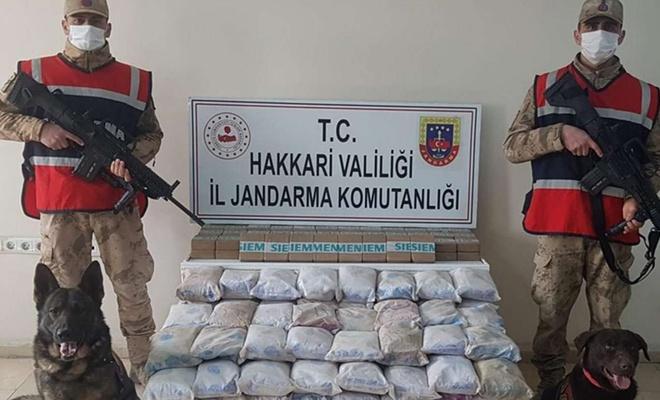 Hakkâri'de 105 kilogram uyuşturucu ele geçirildi
