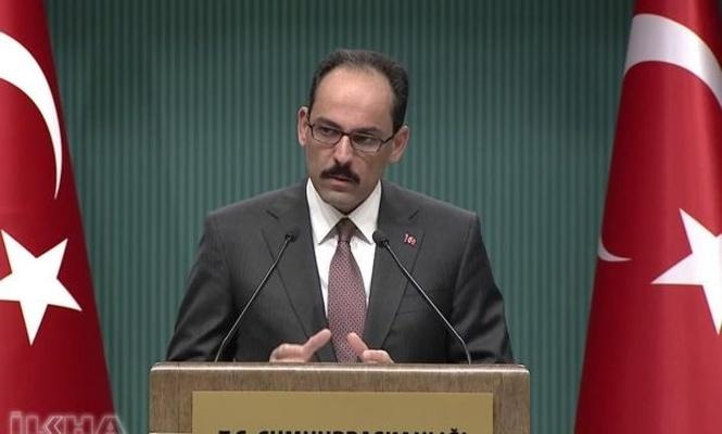 Statements from Presidential Spox Kalın on visa crisis