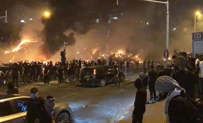 Filistinli direnişçiler işgal altındaki Lod şehrini savaş meydanına çevirdi