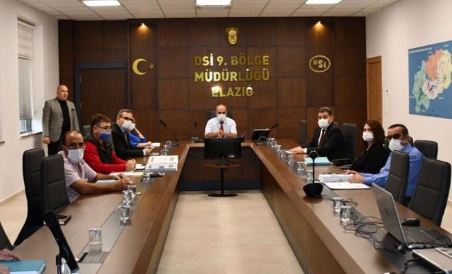 """Elazığ'da """"Köklüce Barajı Planlama-Değerlendirme Toplantısı"""" yapıldı"""