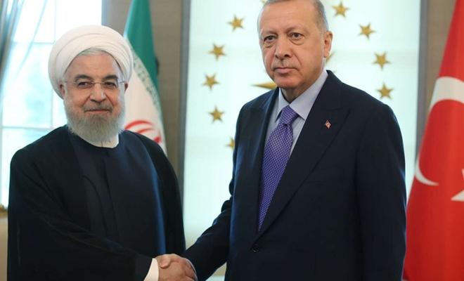 Cumhurbaşkanı Erdoğan ile Ruhani görüştü