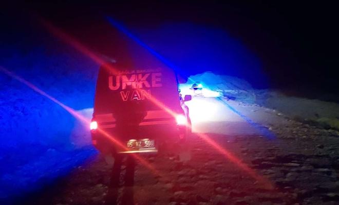 Ulaşımı zor olan kırsal mahalledeki hastayı UMKE ve 112 ekipleri hastaneye yetiştirdi