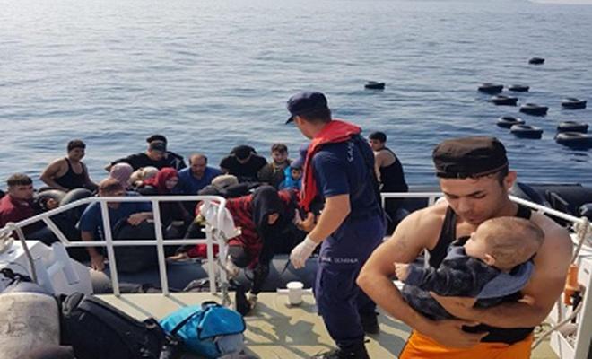 6 ayrı operasyonda 387 düzensiz göçmen yakalandı