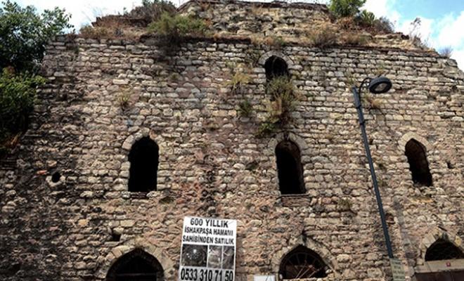 İshak Paşa Hamamı satışa çıkarıldı, vatandaşlar tarihi eserin satılmasına tepkili