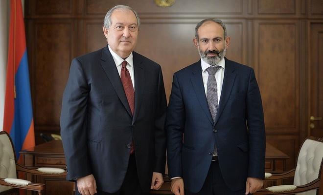 Ermenistan Cumhurbaşkanı Sarkisyan'dan, Paşinyan'ın talebine veto!