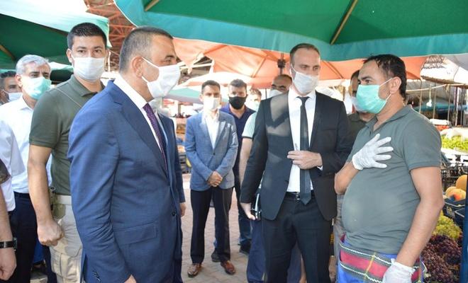 Siirt'te kapsamlı Covid-19 denetimi yapılarak vatandaşlar uyarıldı