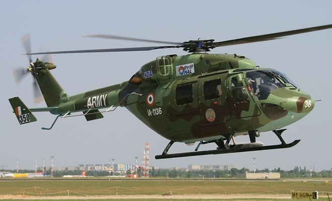Keşmir'de Hindistan'a ait askeri helikopter düştü: 1 ölü