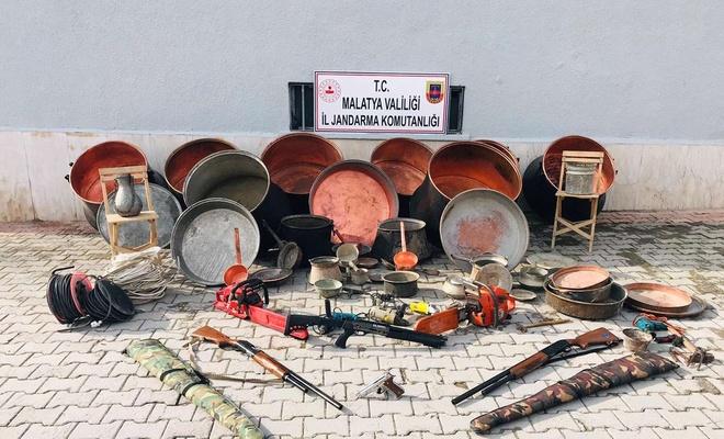Malzemeleri Sivas'tan çaldılar Malatya'da yakalandılar
