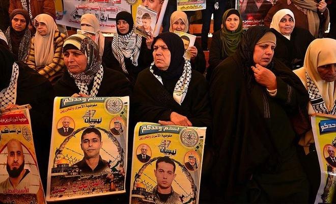 Filistinlilerin ömürleri terörist çetenin hapishanelerinde tükeniyor