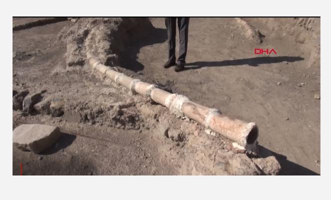 Erzurum Kalesi'nde 800 yıllık su isale hattı ortaya çıkarıldı