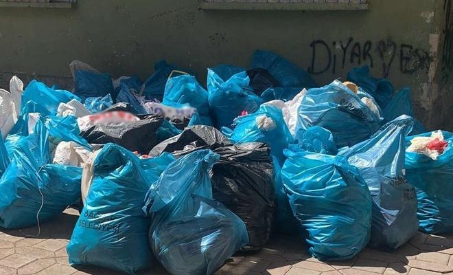 Yaşlı kadının evinde 15 ton çöp çıktı
