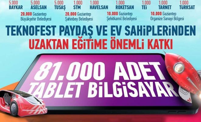 81 bin tablet öğrencilere dağıtılacak