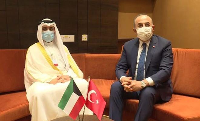 Çavuşoğlu, Kuveyt Dışişleri Bakanı ile görüştü