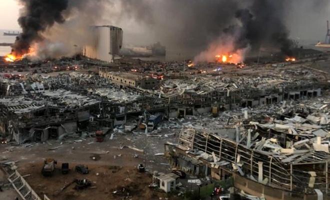 Beyrut'taki patlama, bakın kaç şiddetinde deprem etkisi oluşturmuş