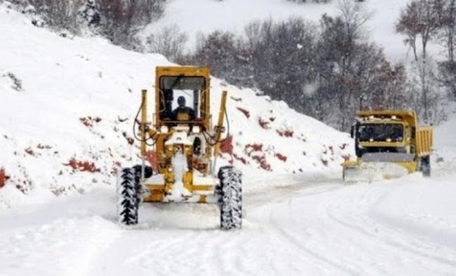 Karabük'te 98 köy yolu ulaşıma kapandı
