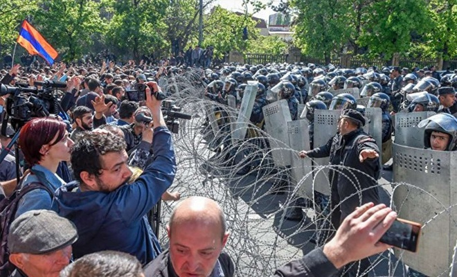 Anti-government protests continue in Armenia's capital