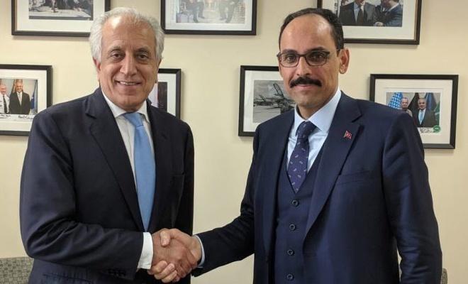 Cumhurbaşkanlığı Sözcüsü Kalın Halilzad'ı kabul etti