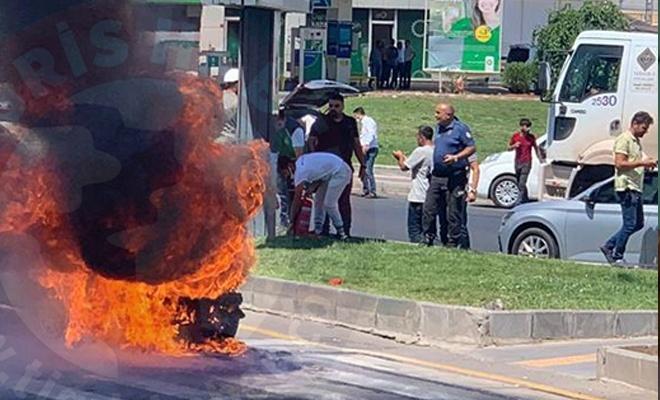 Diyarbakır sıcağı araç yaktı!