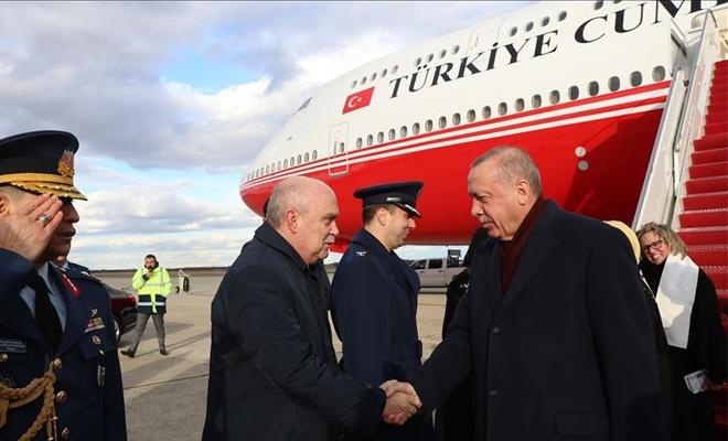 Erdoğan'ın uçağı Washington'a iniş yaptı