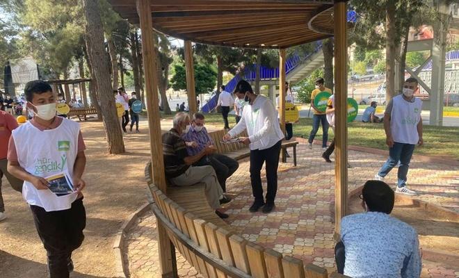 HÜDA PAR Mardin Gençlik Kolları madde bağımlılığının zararlarına dikkat çekti