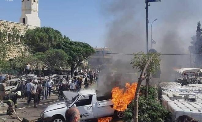Azez'deki bombalı saldırıda  ölü sayısı 5'e, yaralı sayısı 85'e yükseldi