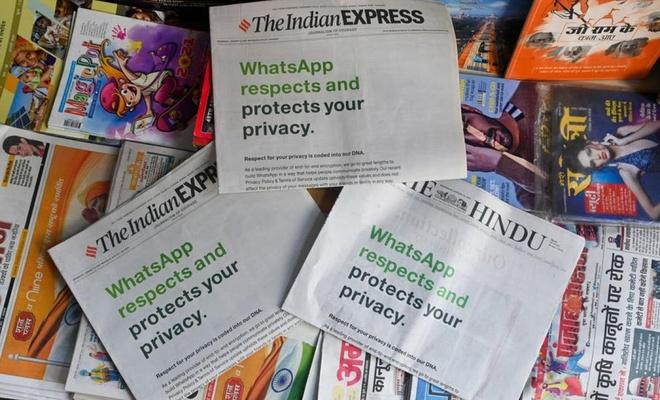 WhatsApp Hindistan'daki gazetelere tam sayfa reklam verdi