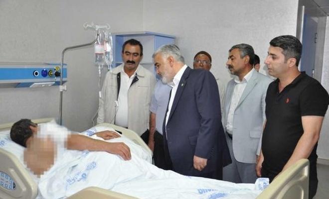 Yapıcıoğlu patlamada yaralananları ziyaret etti