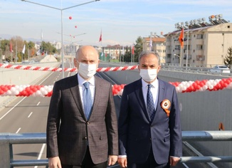 Adıyaman Belediye Başkanı Kılınç tamamlanan köprülü kavşak için teşekkür etti