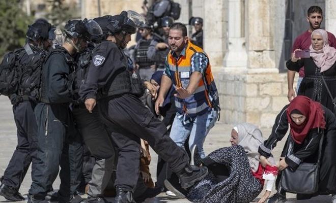 İşgalci israil polisi Filistinli kadınlara saldırdı