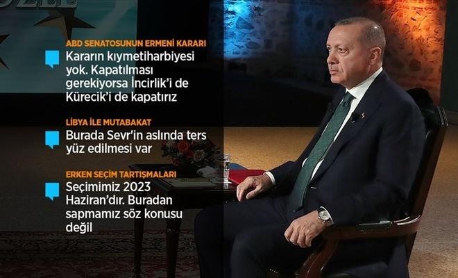 Cumhurbaşkanı Erdoğan: Libya mutabakatı Sevr'in ters düz edilmesidir