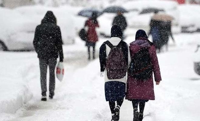 Yüz yüze eğitime 9 ilde kar engeli!