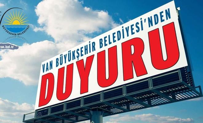 """Van Büyükşehir Belediyesinden """"Parkomat uygulaması"""" açıklaması"""