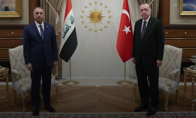 Cumhurbaşkanı Erdoğan Irak Başbakanı Kazımi ile Mescid-i Aksa ve Gazze'yi görüştü
