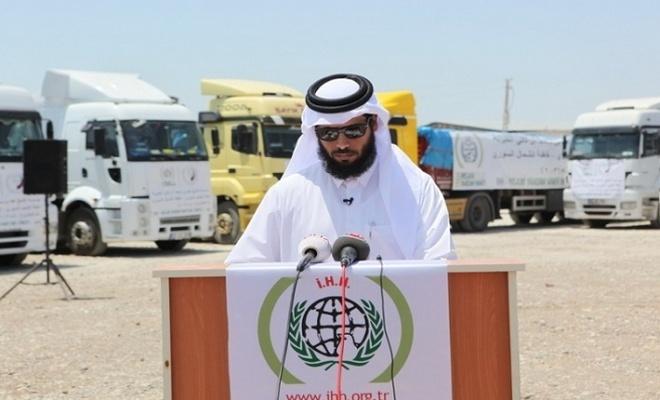 Katar'dan Suriye'ye 50 tırlık insani yardım